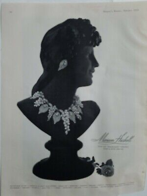 1955 vintage Miriam Haskell necklace earrings bacchanalia collection jewelry ad