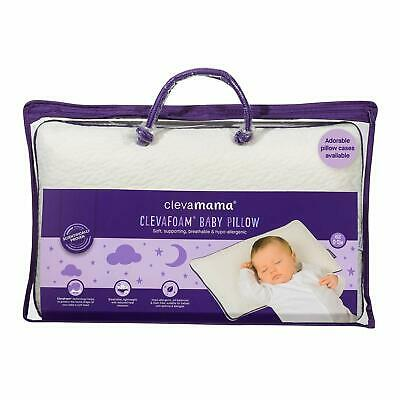 ClevaMama Breathable Memory Foam Baby Pillow for Newborn & Babies (0-12 months)