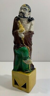 Fine 19th Century Chinese Polychrome Enameled Porcelain Figure Of An Immortal