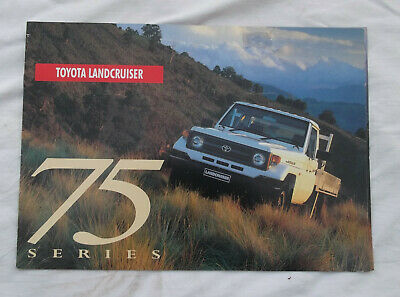 Toyota Landcruiser 75 Series Sales Brochure Land Cruiser Cab Chassis Troop