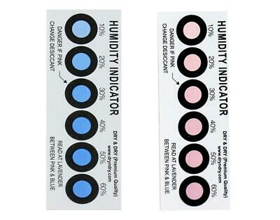 Premium Humidity Indicator Cards 20 Pack(REUSABLE) - 6 Spot(20 Cards) 20 Pack