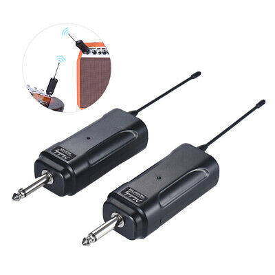 Portable UHF Wireless Audio Transmitter Receiver System for Guitar Bass New S6B5