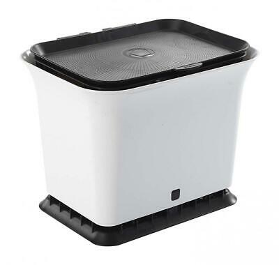 Full Circle Fresh Air Odor-Free Kitchen Compost Collector, Black and White