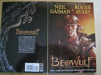 BEOWULF : NEW IDW 2007 Graphic Novel of the MOVIE by NEIL GAIMAN & ROGER AVARY