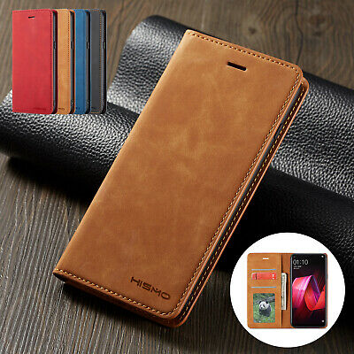 For OPPO A73 R15 Pro Case Retro Magnetic Leather Card Wallet Stand Flip Cover