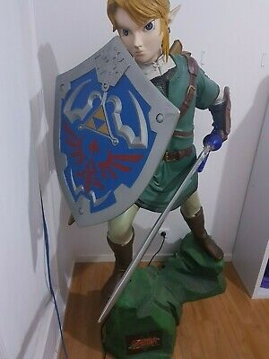 extremely rare life-size link statue