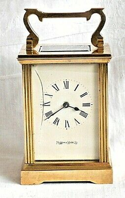 Mappin And Webb Ltd Brass Carriage Clock
