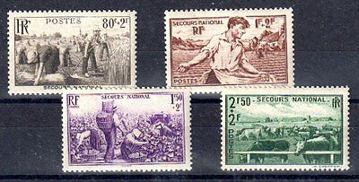 FRANCE 1940 TIMBRE N° 466 à 469 SERIE SECOURS NATIONAL ** LUXE