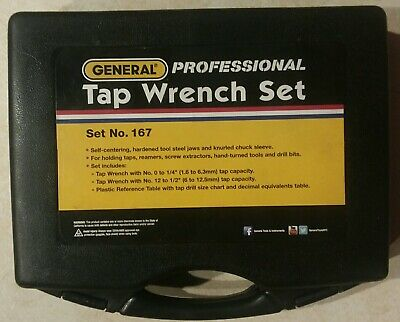 GENERAL 167 Tap Wrench Set,0 to 1/2 In,3 pc