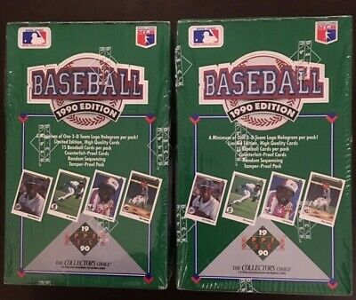 2 Boxes 1990 Upper Deck Baseball Cards (low series).