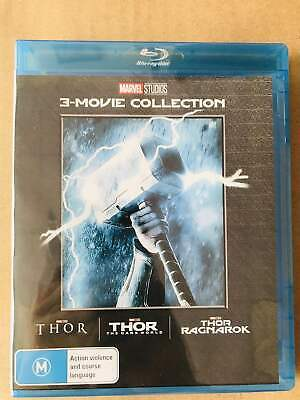THOR 3-Movie Collection [Blu-ray] 1-3 Complete Trilogy Ragnarok 1 2 3 Brand New!