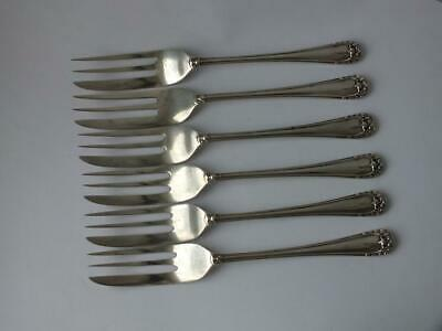 Set of 6 Art Deco Solid Sterling Silver Cake/ Pastry Forks 1931/L 12.5cm/ 97g