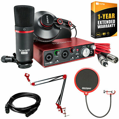 Focusrite Scarlett 2i2 Studio Pack & Record Bundle 2nd Gen w/ Accessories Kit