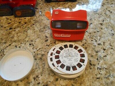 3D ViewMaster 3-D View Master Vintage LOT Reels Superman Mickey Mouse Club Smurf