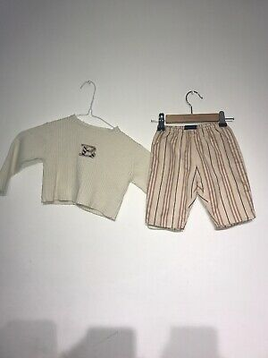 Burberry Unisex Baby Jumper & Trouser Outfit Age 3 Months Ref Wa