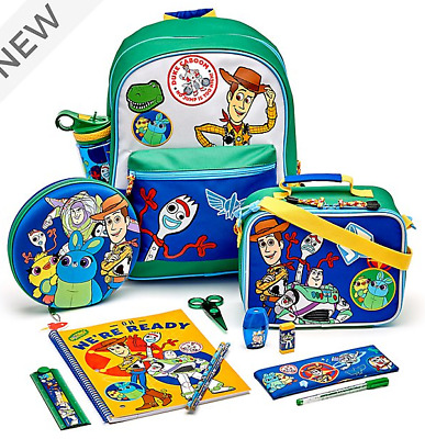 Toy Story 4 School Backpack Water Bottle Luch Bag Stationary Set ,Food Container