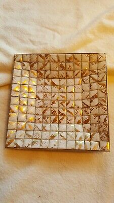 Vintage Mosaic Tile Trinket Tray or ashtray 5 inch square