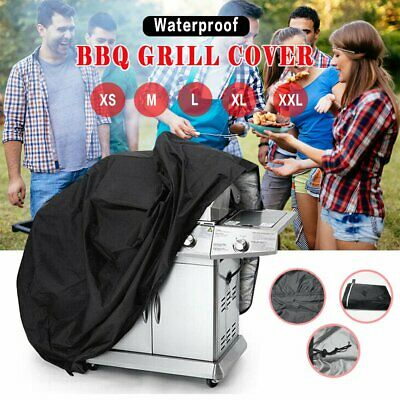 190CM BBQ Grill Cover Heavy Waterproof Garden Patio Outdoor Barbecue XS M L XXL