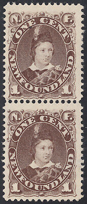 NFLD Prince of Wales Pair, Scott 43, F-VF RG, catalogue - $280