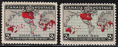 Canada Penny Postage, Scott 85, 86, F-VF MH/MNH (note), catalogue - $149