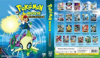 DVD Japanese Anime Pokemon Movie Collection Movie 1- movie 21 +TRACKING Shipping
