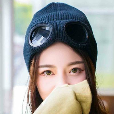 Unisex Women Thick Warm Retro Cable Knitted Baggy Slouch Casual Beanie Hat BSP