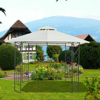 3x3M Pavilion Metal Gazebo Awning Canopy Sun Shade Shelter Marquee Party Tent UK