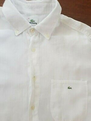 6803d56556 LACOSTE GIRL'S SCALLOPED Collar Polo Shirt Short Sleeves in White ...