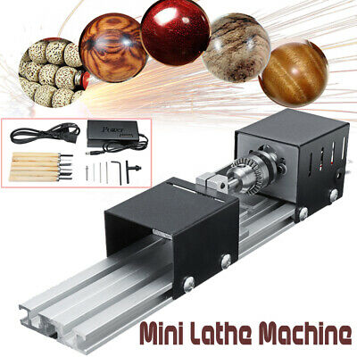 200W Mini Lathe Beads Machine 110V - 220V DIY Woodworking Polisher Machine