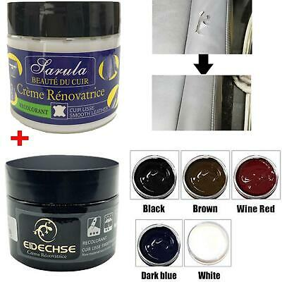 Car Seat Leather Vinyl Repair Cream Tool + Repair Dye Color Restorer Car Home