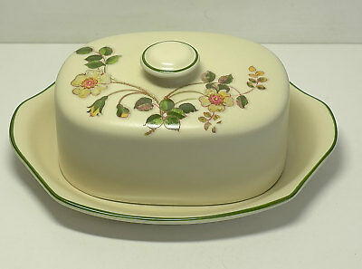 Marks & Spencer Autumn Leaves Butter Dish mint un-used condition