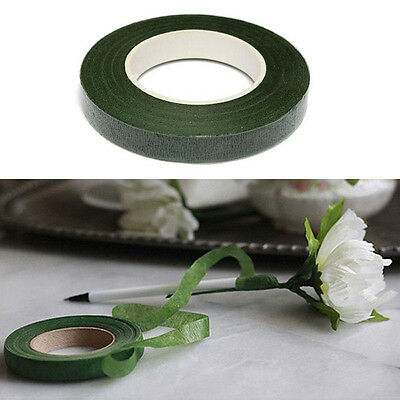 Green Florist Stem Tape Wire Floral Floristry Work Corsages Button Holes Craft