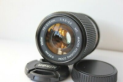 Nikon Ai-s Mount Vivitar 70-210mm f4.5-5.6 Telephoto Zoom & Macro Manual Lens