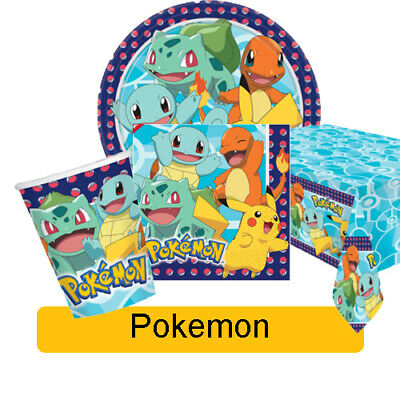 NEW 2019 POKEMON Birthday Party Range - Tableware Supplies Decorations {Amscan}