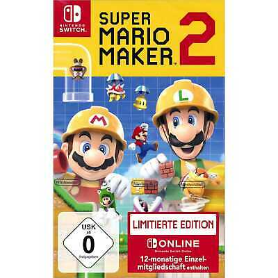 Super Mario Maker 2 Limited Edition inkl 12-monatige Einzelmitgliedschaft Switch