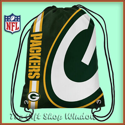 Green Bay Packers Drawstring Crest Gym / Sports / School Bag Official Nfl New