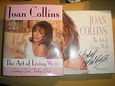 JOAN COLLINS - THE ART OF LIVING WELL  1st/1st  HB/DJ  2007 SIGNED
