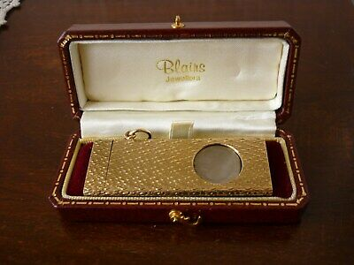 Solid 9ct Gold Cigar Cutter Fully Hallmarked London 1972 21.7g