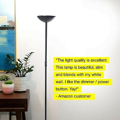 Led Torchiere Floor Lamp Dimmable Living Room Light Reading Office Home Decor