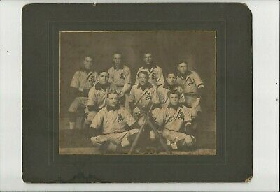 VINTAGE ANTIQUE BASEBALL TEAM CABINET PHOTO - with at least 1 Major League HOF p