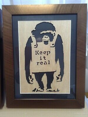 Banksy Images - Rare 'Laugh Now' Stencil - Very Unusual - Nicely Framed