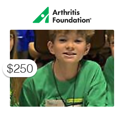 $250 Charitable Donation For: Juvenile Arthritis Conference