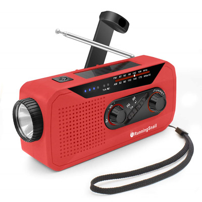 Wind Up Solar Radio,Emergency Hand Crank Radio Dynamo Radio with Flashlight USB