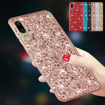 For Samsung S10 5G S8 Plus S9 A30 A20 A50 A70 Bling Shockproof Rubber Case Cover