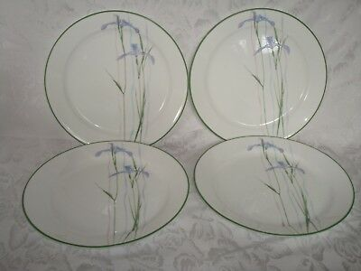 4 Corelle Coordinates Shadow Iris Dinner Plates New With Tags