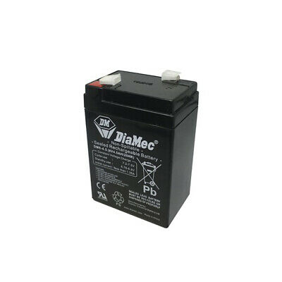 DM 6V 4.5Ah SLA / 4.5 Amp Hour 6 Volt Sealed Lead Acid Battery free postage