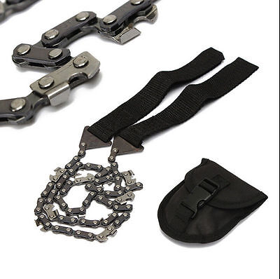 Survival Chain Saw Hand ChainSaw Emergency Camping Kit Tool Pocket small toolT8