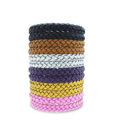 10* Anti Mosquito Pest Insect Repellent Bracelet Leather Wrist Band Wristband