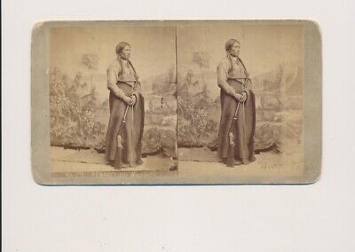 1870's #716 Penneit Ute Warrior Weitfle's Stereoscopic Views Union Pacific R.R.