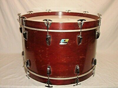 "Gorgeous Vintage 1972 Ludwig MAHOGANY THERMOGLOSS 24"" 3-PLY VIRGIN Bass Drum"